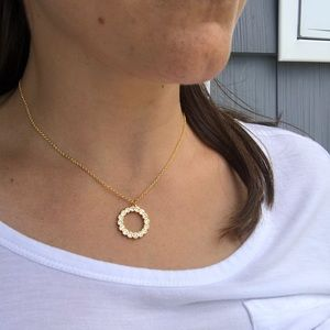 Kate Spade Gold Full Circle pendant Necklace